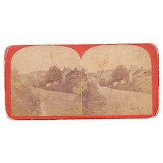 c1870s Civil War Stereoview of Main St. Sharpsburg, MD (Antietam)