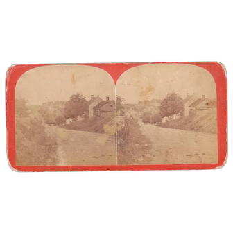 c1870s Civil War Stereoview of Main St. Sharpsburg, MD (Antietam)