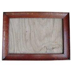 """Victorian Era Quarter Sawn Oak Picture Frame 12"""" x 19"""""""