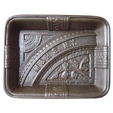 Advertising Eastlake Victorian (late 1800s) Cast Iron Tray