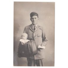 c1910s/1920s RPPC of Mailman or Postman