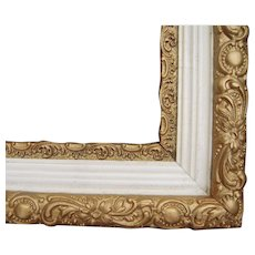 "Ornate Gold and Offwhite Victorian Picture Frame 16"" x 20"""