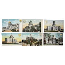 Complete Set 47 Postcards State Capitols pre 1910 #4