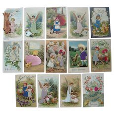 Lot 14 Easter Postcards w/Add Ons c1910