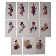 Lot 11 1903-1905 Postcards of People by R. Hill
