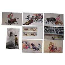 Lot 6 Bullfight Postcards incl 1 RPPC, Mostly 1907/1908