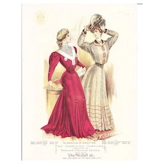 1906 Color Lithograph for  McCalls Fashions