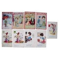 Lot 9 c1905/1910 Comic Postcards of Women
