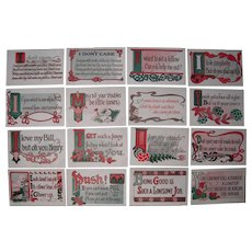 Lot 16 Postcards Of Sayings c1910 #1