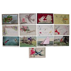 Lot 13 Misc Horizontal Add On Postcards c1910 #1