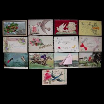 Lot 13 Misc Horizontal Add On Postcards c1910 #1