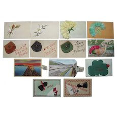 Lot 13 Misc Horizontal Add On Postcards c1910 #2