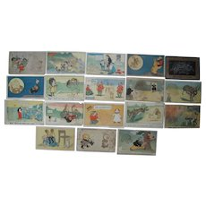 Lot 18 Comic American Journal Examiner Magic Postcards 1906 #2