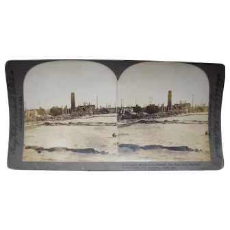 1906 Stereoview of San Francisco Earthquake by Berry, Kelly and Chadwick