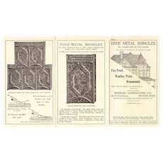 Victorian Era Architectural Advertising Flyer for Roof Shingles