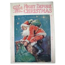 "c1910/1920 Children's Book ""The Night Before Christmas"" A/S Frances Brundage"