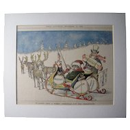 Satirical Color Santa from 1898 Utica Saturday Globe Newspaper #22