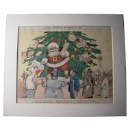Satirical Color Santa from 1897 Utica Saturday Globe Newspaper #21
