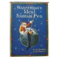 c1910 Color Advertising Santa for Waterman's Fountain Pens #20