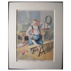 c1890s Color Santa Lithograph from Children's Book #19