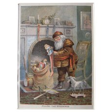 c1890s Color Santa Lithograph from Children's Book #25