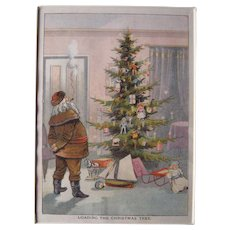 c1890s Color Santa Lithograph from Children's Book #18