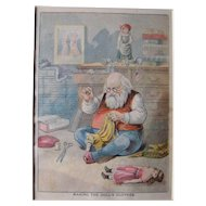 c1890s Color Santa Lithograph from Children's Book #17
