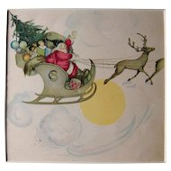 c1920s Color Santa Print from Children's Book #16
