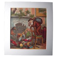 c1890s Color Santa Lithograph from Children's Book #14