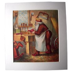 c1890s Color Santa Lithograph from Children's Book #13