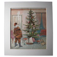 c1890s Color Santa Lithograph from Children's Book #7