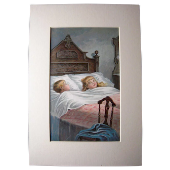 1896 Color Lithograph from Night Before Christmas Children's Book #12