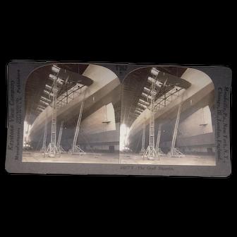 1928 Stereoview of the Graf Zeppelin at Lakehurst, NJ