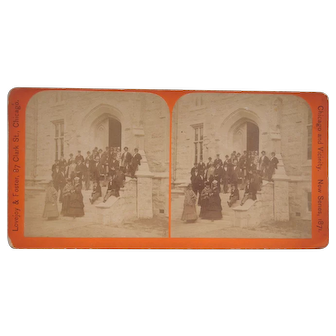 1871 Stereoview of Northwestern University Evanston, IL