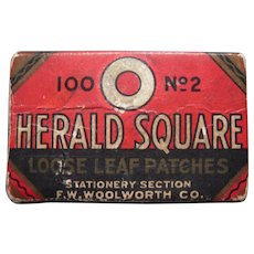c1910s/1920s F.W. Woolworth Loose Leaf Patches Advertising Box