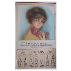 Large 1915 Advertising Calendar (2 Available)