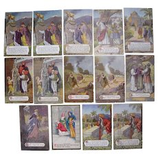 Lot 14 Ten Commandments Postcards from 1908