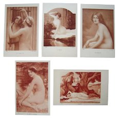 Lot 5 A/S French Nude Postcards c1908