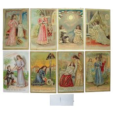 "Complete Set c1908 Postcards ""The Lord's Prayer"" (7 sets available)"