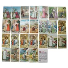 Lot 26  Misc Lord's Prayer Postcards, c1908
