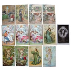 Lot 13 Religious Sayings Postcards, c1908/1909