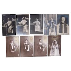 Lot 9 Religious RPPC (including Pope Pio) c1908