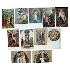 Lot 11 Italian Religious Postcards c1910
