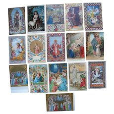 Lot 16 Religious Postcards  for Misc Countries c1910s
