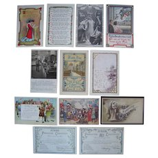 Lot 12 Rally Day and Other Religious Postcards, c1910s/c1920s