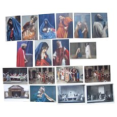 Lot 18 Oberammeragau Religious Postcards, mostly from 1922