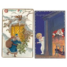 Lot 2 Santa Postcards c1908