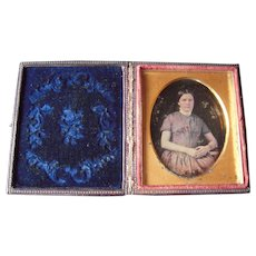 c1850s Ninth Plate Daguerreotype of Teen Age Girl