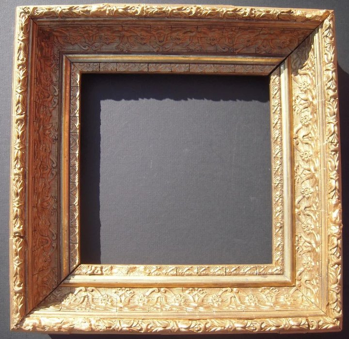 Deep Ornate Square Gold Victorian Picture Frame 7 5/8\