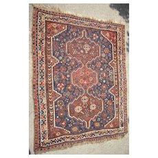 c1910 Antique Shiraz Persian Rug 3' x 5'